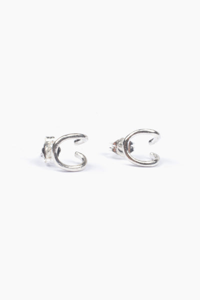 Newend Crossover Earrings - Sterling Silver