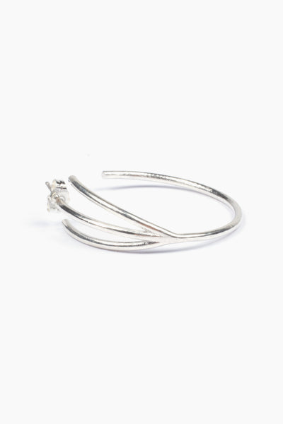 Newend Peace Earring - Sterling Silver