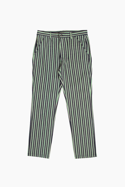Pleasures Striped Denim Pant - Green