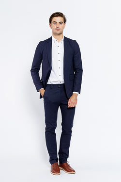 Vanishing Elephant Suit Blazer Navy Linen