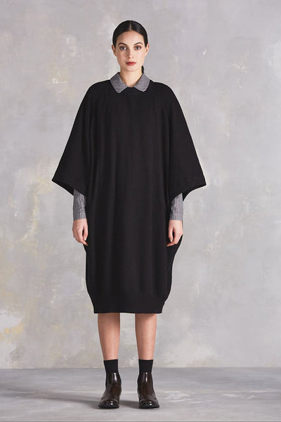 Kowtow Voyage Cape Dress available in Black Kowtow is available in Brisbane Queensland Australia at Violent Green Albert Street store