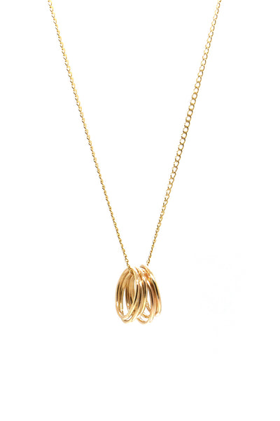 Natalie Marie Large Six Smooth Ovals Necklace