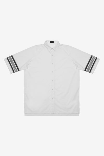 STAMPD CARDIN SHIRT WITH MAYAN PRINT available in WHITE
