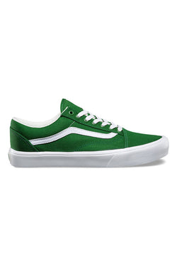 Vans Canvas Old Skool Lite Juniper True White Shop Vans in Violent Green Albert Street store, Brisbane, Queensland, Australia