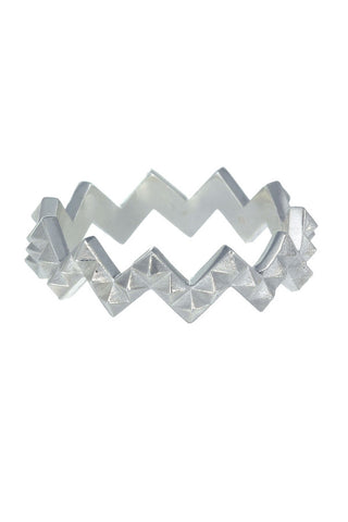 ZOE AND MORGAN ZIG ZAG PUNK RING available in SILVER
