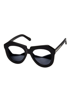 KAREN WALKER ALTERNATE FIT ONE WORSHIP SUPERSTARS available in BLACK/SILVER FRAME and SILVER MIRROR