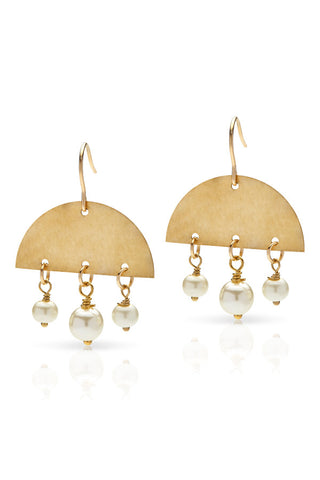 Petite Grand Aurora Earrings Gold