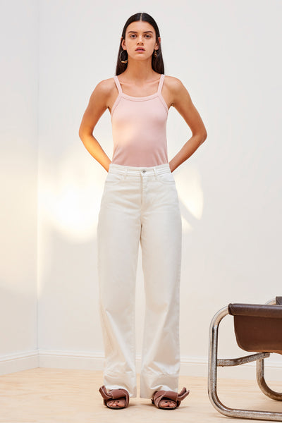 Kowtow Building Block Rib Singlet - Rose