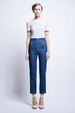KAREN WALKER Blazer Pants Runaway Denim Indigo