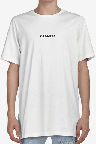 STAMPD Center Logo Tee White $99 now on sale $69