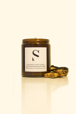 SPEAKEASY.CO CINNAMON AND VANILLA CANDLE