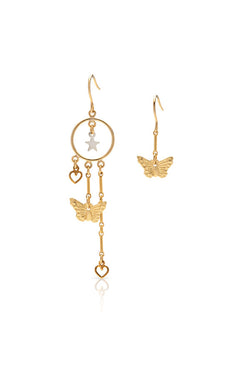 Petite Grand Creatures Of The Night Earrings Gold