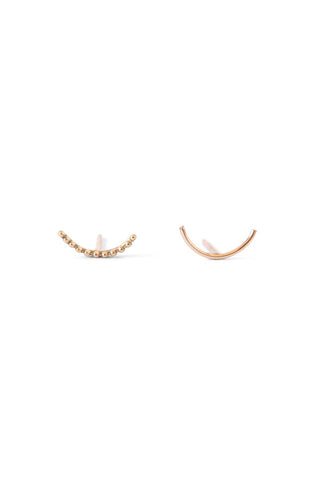 NATALIE MARIE Dotted Arc Pair #2 9ct Yellow Gold