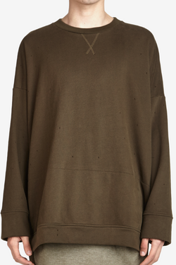 STAMPD Draped Crew Olive $209 on sale for $139