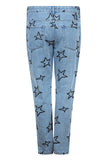 Etre Cecile Stars Embroidery Low Rise Slouch Jean Light Blue