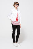 ETRE CECILE La Vie Parisienne Box Oversize Tank available in Breton Stripe