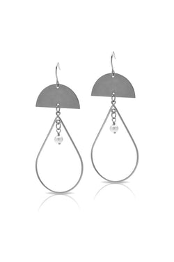 Petite Grand Hermia Earrings Silver