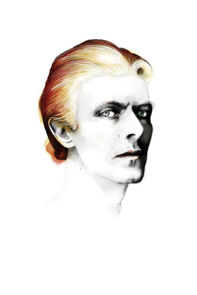 And Lizzy David Bowie Thin White Duke Print And lizzy is available in Brisbane Queensland Australia at Violent Green Albert Street store #Lizzyanderson #elizabethanderson #art #lizzyandersonart #elizabethandersonart #lizzyandersonprints #andlizzyprints #andlizzyart #andlizzy #gift