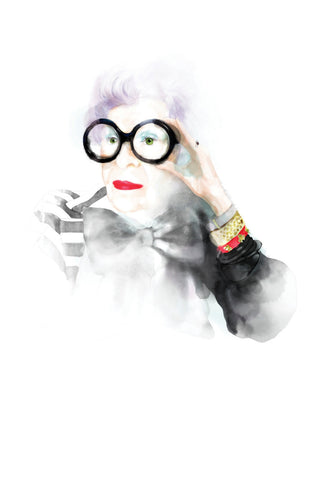 And Lizzy Iris Apfel Artwork