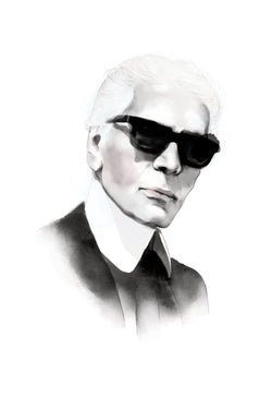 And Lizzy Karl Lagerfeld- Chanel Artwork