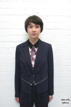 SOMETHING ELSE ZIPPERED JACKET available in NAVY