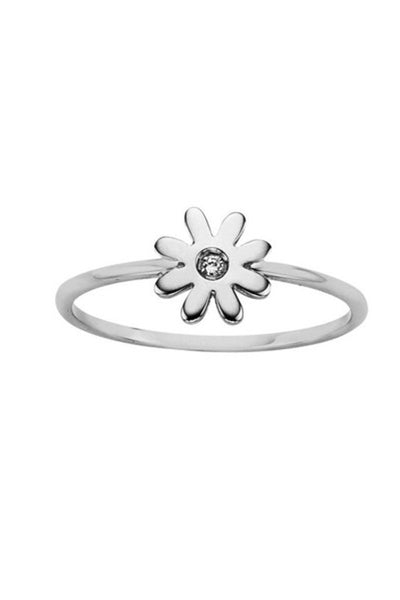 KAREN WALKER  MINI DAISY RING STERLING SILVER WITH DIAMOND #karenwalker