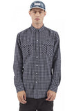 I LOVE UGLY Long Sleeve Check Shirt Navy