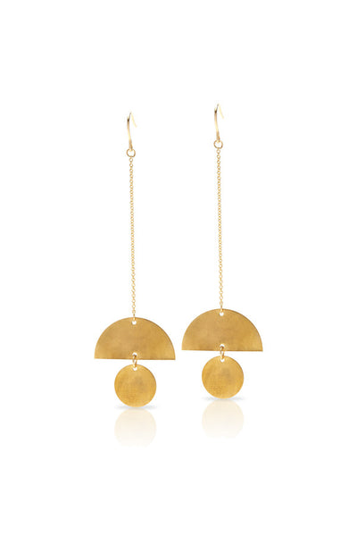 Petite Grand Lunatic Drop Earrings Gold