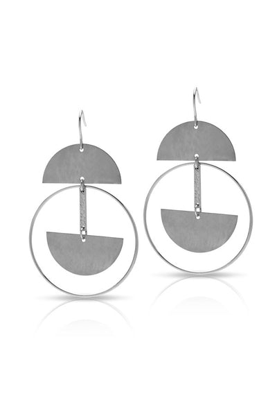 Petite Grand Oberon Earrings Silver