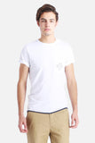 NATIVE YOUTH SOUNDWAVE POCKET T-SHIRT(menswear) available in WHITE