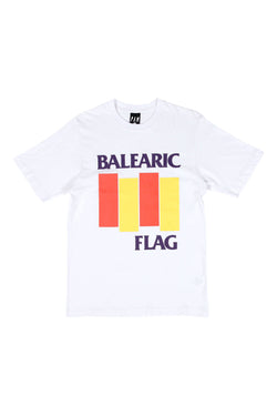 Perks And Mini  //  P.A.M. Balearic Flag S/S Tee available in White Perks And Mini //  P.A.M. is available in Brisbane Queensland Australia at Violent Green Albert Street store