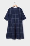 Kowtow Reflection Dress - Navy Check