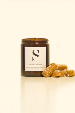 SPEAKEASY.CO SALTED CARAMEL CANDLE