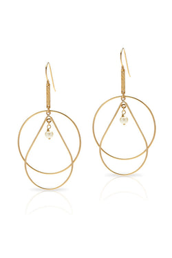 Petite Grand Shadow Earrings Gold