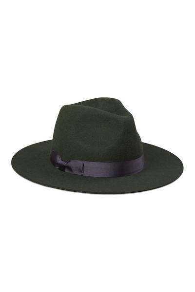 Lack Of Color Silent Woods available in Olive Green Lack Of Color is available in Brisbane Queensland Australia at Violent Green Store #lackofcolor #lackofcolorstockist #lackofcolordealer #lackofcolorbrisbane #lackofcolorqueensland #lackofcoloraustralia #lackofcolourspencerboater #spencerboater #boaterhat #strawhat #fedora #woolfedora #mensfedora