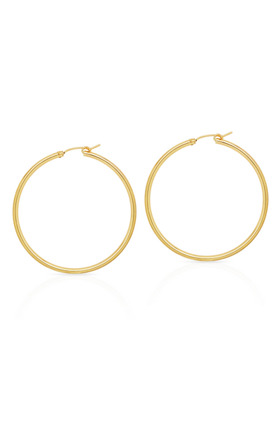 Petite Grand Sol Hoops 50mm Gold Petite Grand is available in Brisbane Queensland Australia at Violent Green Albert Street store #petitegrand #petitegrandjewellery #petitegrandaustralia #petitegrandbrisbane #petitegrandqueensland #petitegranddealer #petitegrandstockist #earrings #studearrings #petitegrandearrings #petitegrandrings #petitegrandpendant #handmadejewellery #jewellery #ring #finering