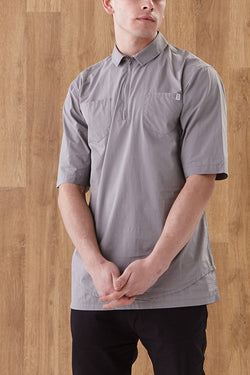 I LOVE UGLY ZIP SHIRT available in GREY