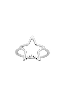 Karen Walker Star Outline Ring Sterling Silver
