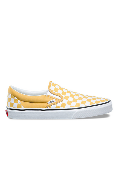 Vans Classic Checkerboard Slip On available in Ochre / True White  vans is available in Brisbane Queensland Australia at Violent Green Albert Street store #vans #vansclassicslipon #vansoldskool #vanshalfcab #vanssk8hi #vansshoes #vansfootwear #footwear #vansdealer #vansstockist #vansaustralia #vansbrisbane #vansqueensland #vansera #checkerboard #vanscso #shoes #streetwear #skate