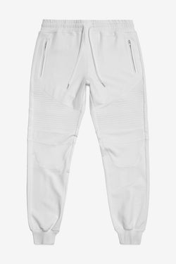 STAMPD Essential Moto Warm Up Pants White $199 now $100