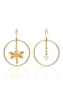 Petite Grand Woodbine Earrings Gold