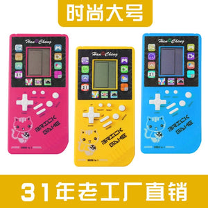 2019 Classic Tetris Hand Held Lcd Electronic Game Toys Fun Brick Game Full Circle