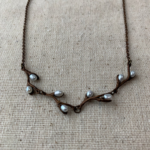 Pussy Willow twig necklace / Michael Michaud