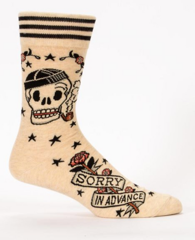 SORRY IN ADVANCE / mens crew SOCKS