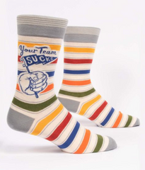 Your team sucks/ M CREW SOCKS