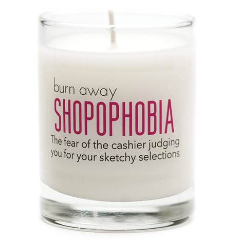 Shopophobia candle