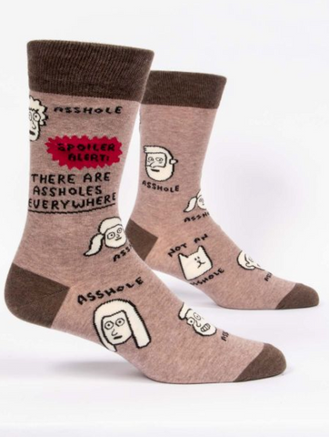 There are a$$holes everywhere / M CREW SOCKS