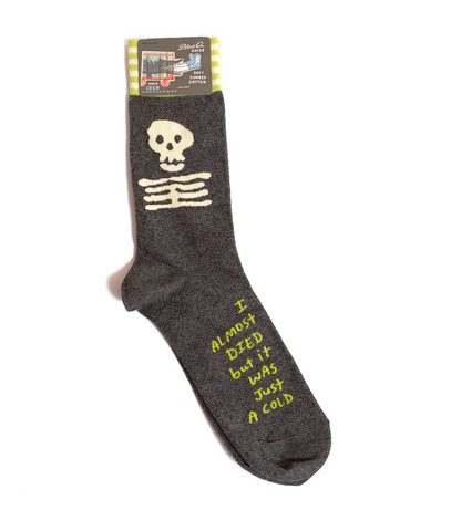I almost died/ M Crew Socks
