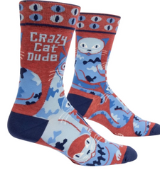 Crazy Cat Dude socks