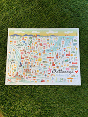 Chattanooga Day Map Print